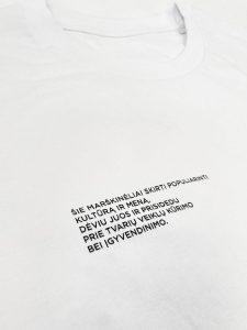 Ars Futuri t-shirt text white